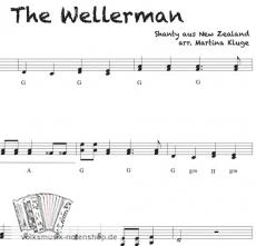 The Wellerman, Shanty aus Neuseeland - Einzelausgabe in Griffschrift