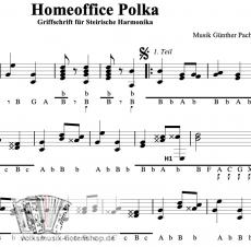Homeoffice Polka von Günther Pacher - Einzelausgabe in Griffschrift