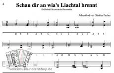 Schau dir an wias Liachtal brennt - von Günther Pacher - Einzelausgabe in Griffschrift