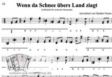 Wenn da Schnee übers Land ziagt - von Günther Pacher - Einzelausgabe in Griffschrift