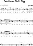 Swallow Tail Jig, irisches Volkslied - Einzelausgabe in Griffschrift
