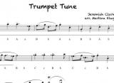 Trumpet Tune - Einzelausgabe in Griffschrift