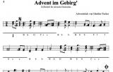 Advent im Gebirg von Günther Pacher - Einzelausgabe in Griffschrift