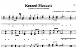 Kerzerl Menuett - von Günther Pacher - Einzelausgabe in Griffschrift