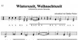 Winterszeit, Weihnachtszeit - von Günther Pacher - Einzelausgabe in Griffschrift